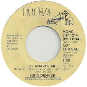 RCA 1978 02 - 11214 - DENVER JOHN - DJ A
