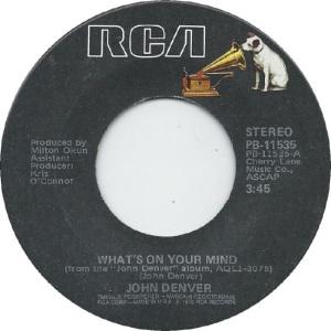 RCA 1979 03 - DENVER JOHN - A