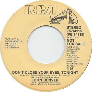 RCA 1985 01 14115 - DENVER JOHN - DJ A