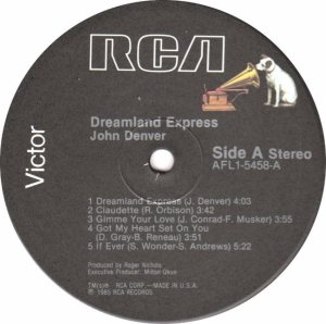RCA - DENVER JOHN - DREAMLAND EXPRESS - 85 C