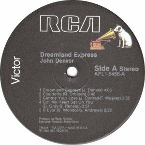 RCA - DENVER JOHN - DREAMLAND EXPRESS - 85 C