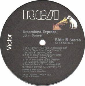 RCA - DENVER JOHN - DREAMLAND EXPRESS - 85 D
