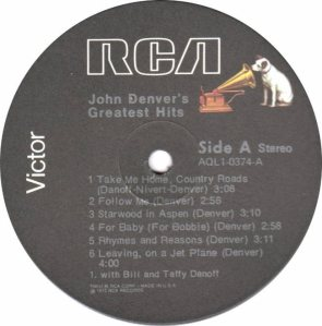 RCA - DENVER JOHN - GREATEST HITS - 74 C