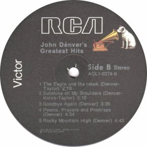 RCA - DENVER JOHN - GREATEST HITS - 74 D