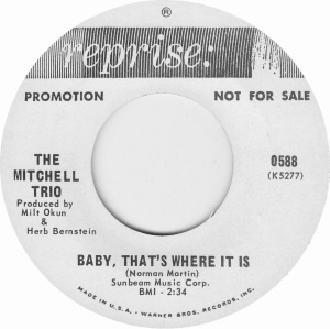 REPRISE 588 - MITCHELL TRIO - 67 B
