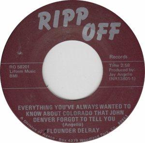 RIPP OFF 58201 - DELRAY FLOUNDER - A