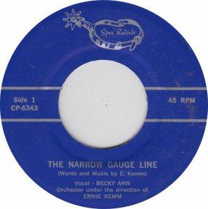 Spur 6343-4 - Becky Ann - Narrow Gauge R1