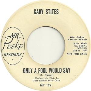STITES GARY - MR PEAKE DJ A