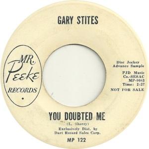 STITES GARY - MR PEAKE DJ B