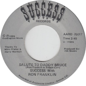 Success 70017 - Franklin, Ron - Salute to Daddy Bruce II