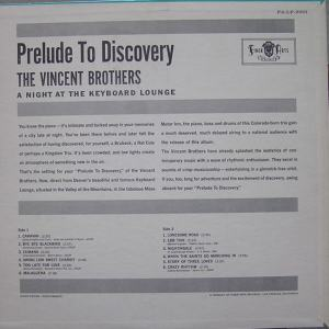 Vincent - Finer Arts 2001 LP - Vincent Brothers - Prelude to Discovery BC (1)
