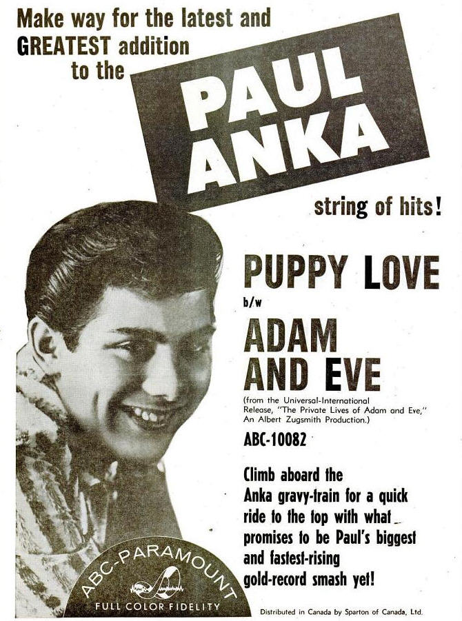 Anka, Paul - 02-60 - Puppy Love