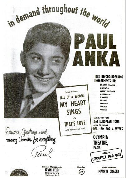 Anka, Paul - 12-58 - My Heart Sings