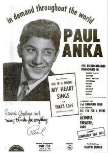 Anka, Paul - 12-58 - My Heart Sings