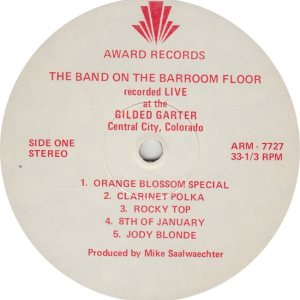 BAND ON BAR ROOM FLOOR - AWARD 7727 R
