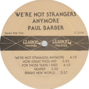 BARBER PAUL - CLARION 2196