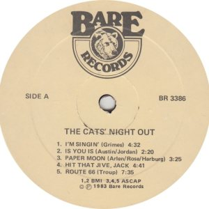 CATS NIGHT OUT - BARE 3386 - R