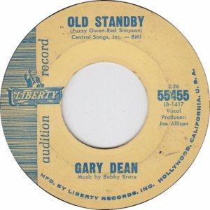 DEAN GARY - LIBERTY 55455 B