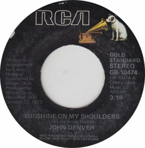 DENVER JOHN - RCA 10474 - GS ADD A
