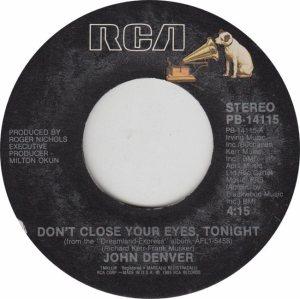DENVER JOHN - RCA 14115 - ADD A'