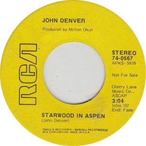 DENVER JOHN - RCA 567 ADD