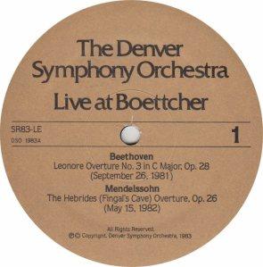 DENVER SYMPHONY ORCH - PETRO LEWIS 83 - RA