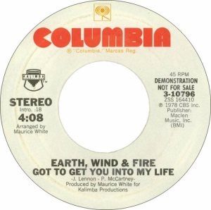 earth-wind-and-fire-got-to-get-you-into-my-life-columbia DJ 2