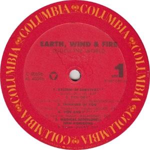 EARTH WIND FIRE - COL 40596 - RA