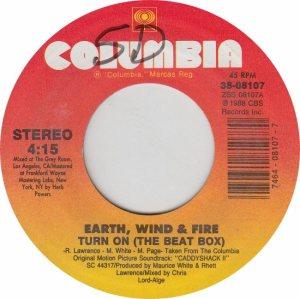 EARTH WIND & FIRE - COLUMBIA 8107