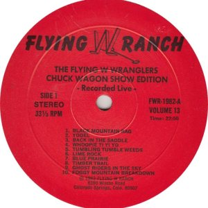 FLYING W WRANGERS - FWR 1982 R