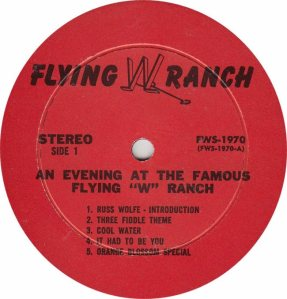 FLYING W WRANGLERS - FW 1970 - RA