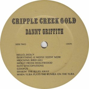 GRIFFITH DANNY - JACKSON SOUND GOLD RB