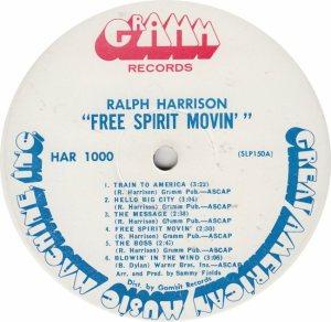 HARRISON RALPH - GRAMM 1000 RA