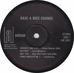 HAVE A NICE CHANGE - AUDICOM 3201 - RA