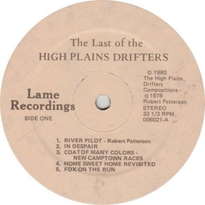 HIGH PLAINS DRIFTERS - LAME 6021
