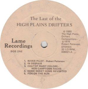 HIGH PLAINS DRIFTERS - LAME 6021