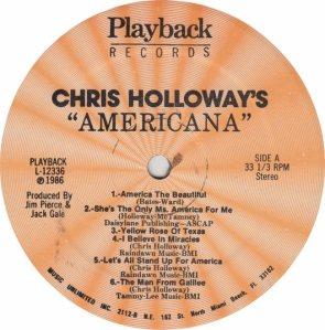 HOLLOWAY CHRIS - PLAYBACK 12366