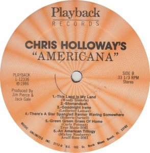 HOLLOWAY CHRIS - PLAYBACK 12366_0001