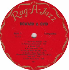 HOWARD & OVID - RAG A JAZZ 1 - RA