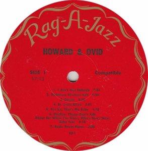 HOWARD & OVID - RAG A JAZZ 1 - RA