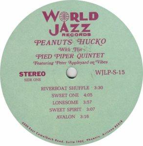 HUCKO PEANUTS - WORLD JAZZ 15 - RA