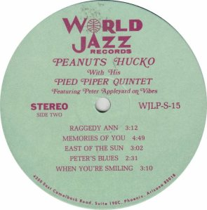 HUCKO PEANUTS - WORLD JAZZ 15 - RB