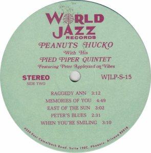 HUCKO PEANUTS - WORLD JAZZ 15 - RB