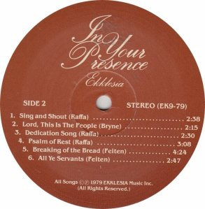 IN YOUR PRESENCE - EKKLESIA 79 RB