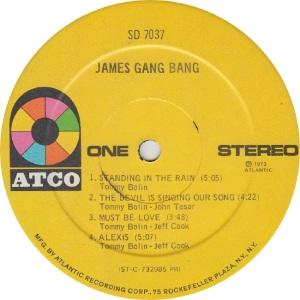 JAMES GANG - ATCO 7037 - RA