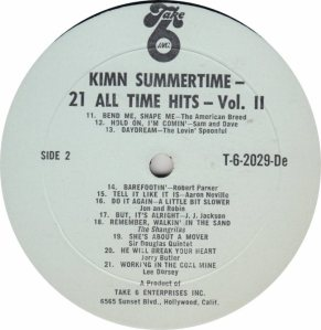 KIMN 21 ALL TIME HITS - RB