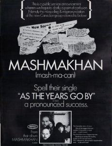 Mashmakhan - 1969 BB - As the Years Go By