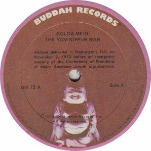 MEIR GOLDA - BUDDAH 73 A