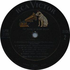 MILLER G LP 1189 1956 D
