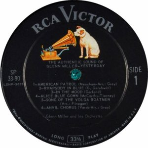 MILLER G LP 33-90 1960 3